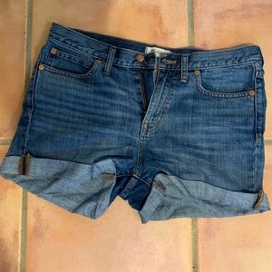 High-waisted Classic Jean Shorts